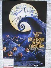 NIGHTMARE BEFORE CHRISTMAS CAST 4x SIGNED 11x17 PHOTO DANNY ELFMAN PSA/DNA RARE