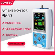 FDA CE PM50 Portable Patient Monitor Vital Signs NIBP SPO2 Pulse Rate Meter