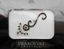 Bindi bijoux piel boda frente strass cristal de Swarovski negro D ING 3681