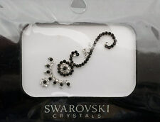 Bindi bijoux de peau mariage front strass cristal Swarovski noir ING D  3681