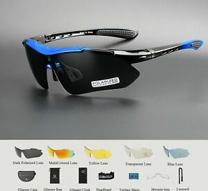 Polarized Cycling Bike Goggles Outdoor Sports UV 400 5 Lens TR90 2 Style