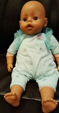 "Zapf Creations ""Baby Born"" Giggles Vinyl & Cloth 16"" Doll, original clothing"