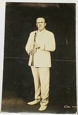 RPPC Clarinetist Paul Taffanel? In Uniform Real Photo Postcard H17