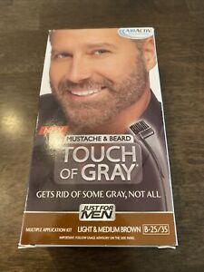 Just For Men Touch of Gray Mustache & Beard, Beard Coloring Light & Medium Brown