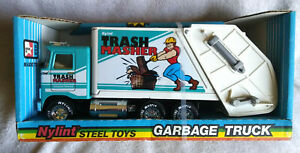 """Nylint Steel Toys """"Trash Masher"""" Garbage Truck New in Box"""
