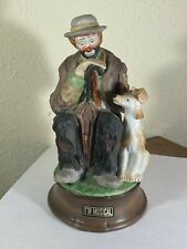 "Emmett Kelly Jr & Dog Pal Bisque Music Box ""Send in the Clowns"" by Flambro"