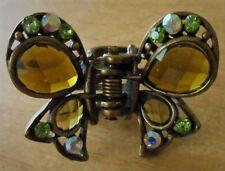 Clip Rhinestone Crystal Butterfly Vintage Hair Claw