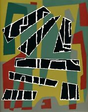Jean Deyrolle Serigraphy stencil signed abstract Art d'Today 1954