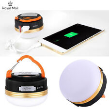 Super Bright USB Rechargeable LED Camping Tent Lantern Light Night Outdoor Lamp