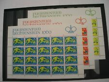 Liechtenstein Sheet of 20 1967 Fairy Tales Scott #458,459,& 460  MNH