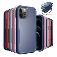 For iPhone 12 Pro Max 11 XS XR 8 7 Shockproof Hybrid Armor Hard Phone Case Cover