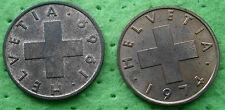 Schweiz  2x 2 Rappen