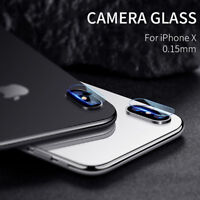 2X For iPhone X Full Cover 3D Curved Camera Lens Tempered Glass Screen Protector