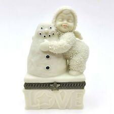 Department 56 Snowbabies I Love You Bisque Porcelain Hinged Trinket Box Figurine