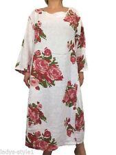 Kurzarm Damenkleider mit Blumen L