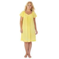 Women's Vanity Fair Coloratura Short Sleeve Gown Bananaramma Size L
