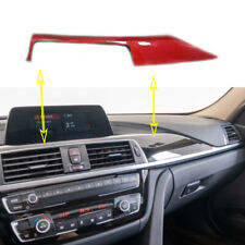 Real Carbon Fiber Central Console Dashboard Trim For BMW 3 4 Series F30 F34