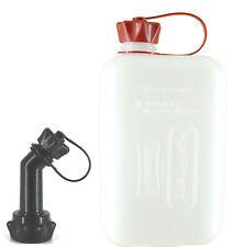 FuelFriend®-BIG CLEAR 2 Liter Benzinkanister Reservekanister + 1 Füllrohr kurz