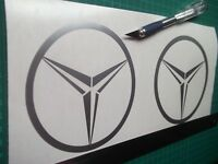 Mercedes Benz  logo / badge car vinyl decal sticker .....x2