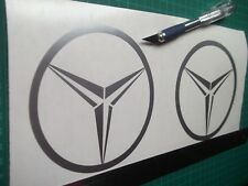 Mercedes Benz  logo / badge car vinyl decal sticker .....x2