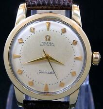 VINTAGE 1952 OMEGA BUMPER AUTOMATIC SEAMASTER GOLD CAP S-STEEL WATCH SERVICE 354