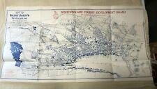 "Antique 1932 Reproduction Map - St Johns NEWFOUNDLAND - 25.5"" x 14"""
