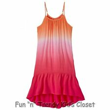 NWT Ruum American Kids Wear Girls Size 5 Hi Low Dip Dye Dress Swimsuit Cover