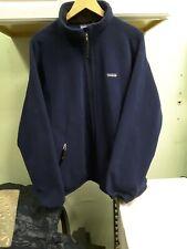 Patagonia Mens Sweater Full Zip Size XL Navy Blue Fleece NICE SEE!!