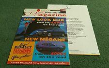 1996 RENAULT CLIO MEGANE LAGUNA ESPACE RENAULT Magazine UK brochure + lettre