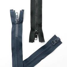 """2 WAY OPENING PLASTIC TEETH CHUNKY ZIP 36 inch BLACK OR NAVY BLUE 36"""" , 91cm"""