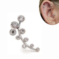 """2pcs 16g 24MM Branch Upper Ear Cartilage Helix Ear Studs Earrings Piercings 1/4"""""""