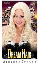 Deluxe Locken Langhaar Perücke blond NEU - Karneval Fasching Perücke Haare