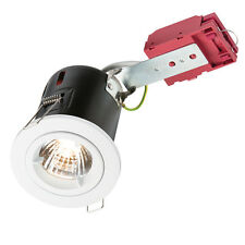 Knightsbridge 230V 50W GU10 Fisso IC Fire-Rated Downlight in Bianco X1