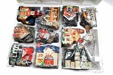 1995 Santa's Best Christmas Village Houses Church Buildings - Set of 10 NIB