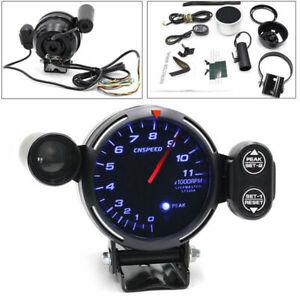 """3.5"""" 12V Car Tachometer Gauge LED Auto Meter & Shift Light + Stepping Motor RPM"""