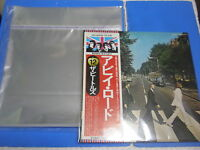 12 inch LP with STICKER 100 pcs 0.04 PLASTIC RECORD OUTER SLEEVES Made in Japan