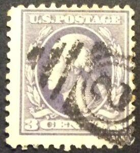 1918 3c Washington regular issue, Scott #530, Used, Fine