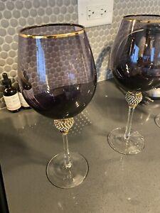 Z Gallerie Amethyst Victorian goblets