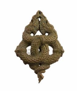 Ouroboros Naga Phaya Nak Schlange Sacré Thailand Amulett Thai Unsterblichkeit