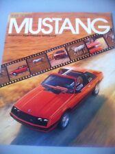 1981 81 Ford Mustang Original Sales Brochure Near Mint Cobra