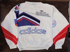 RARE Adidas sweatshirt XIII OLYMPIC WINTER GAMES Lake Placid 1980 L XL souvenir
