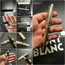 BOXED MONTBLANC 146 MEISTERSTUCK LE GRAND PURE SILVER FOUNTAIN PEN FREE SHIPPING