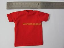 """1/6 Scale Tee Hot Red Short Sleeves T-Shirt For 12"""" Action Figure Toys"""