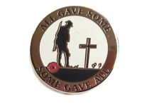 All Gave Some, Some Gave All World War Remembrance Day Poppy Lapel Pin Badge