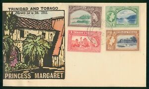 Mayfairstamps Trinidad and Tobago 1955 Places to Visit Combo Princess Margaret C