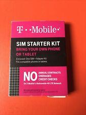 T-Mobile Prepaid  00006000 Complete Sim Starter Kit Unlocked Compatible Phone Tablets