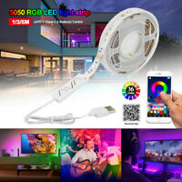 1-5M LED STRIP LIGHTS 5050 RGB COLOUR CHANGING TAPE UNDER CABINET KITCHEN LIGHT