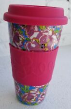 Lilly Pulitzer Travel Mug, Beach Rose - Kitchen Drinkware Cup Glass 143001-LGPLP