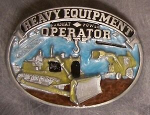 Pewter Belt Buckle tradesman Heavy Equipment Operator NEW