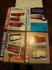 4-1990 Thru 1993 Wells Cargo Trailer Sales Brochure w/ Price Lists